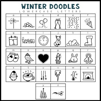 KA Fonts - Winter Doodle Font
