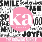 KA Fonts Endless Font Bundle - 400+ Fonts - Growing Bundle