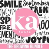 KA Fonts Endless Font Bundle - 400+ Fonts - Growing Bundle