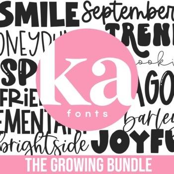 KA Fonts Endless Font Bundle - 430+ Fonts - Growing Bundle