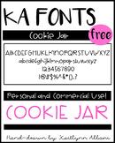 KA Fonts - FREE Font - Cookie Jar
