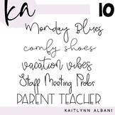 KA Fonts - Font Bundle 10