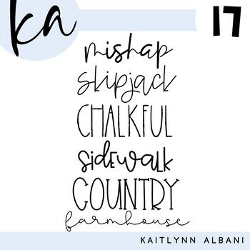 KA Fonts - Font Bundle 17