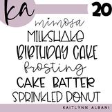 KA Fonts - Set 20