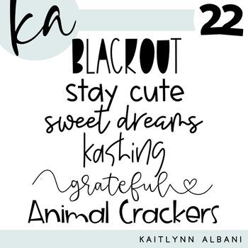 KA Fonts - Font Bundle 22