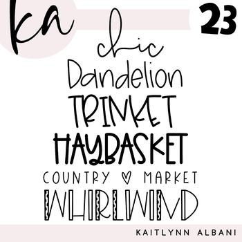 KA Fonts - Font Bundle 23