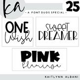 KA Fonts - Set 25