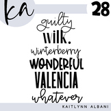 KA Fonts - Set 28