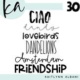 KA Fonts - Set 30