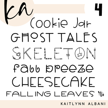 KA Fonts - Font Bundle 4