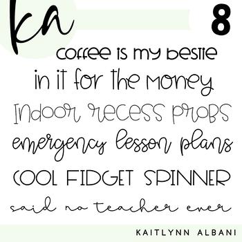 KA Fonts - Font Bundle 8