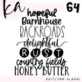 KA Fonts | Font Bundle - Set 64 | Farmhouse Style