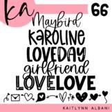 KA Fonts | Font Bundle - Set 66 | Valentines Day