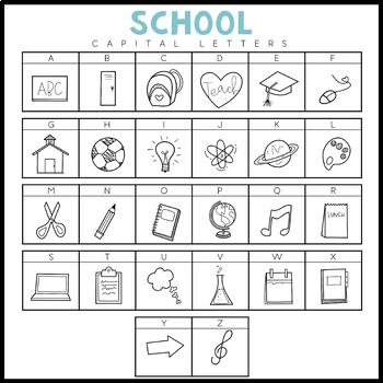 KA Fonts -  School Doodles