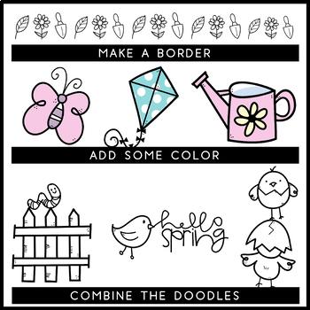 KA Fonts - Spring Doodles