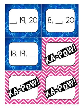 "KA-POW! (A ""What's the Missing Number?"" Game)"