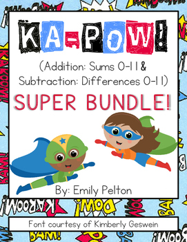 KA-POW! (Addition: 0-11 AND Subtraction: 0-11) SUPER BUNDLE! [K-1]