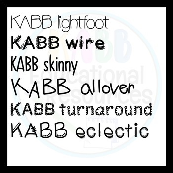 KABB FONTS Growing Bundle!!