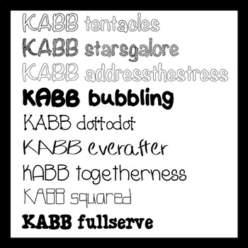 KABB Fonts Bundle