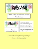 KABLAM! More Adding and Subtracting Fractions with Unlike