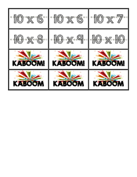 KABOOM! A Multiplication Game