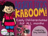 KABOOM!  Addition Fact Fluency Practice through 20