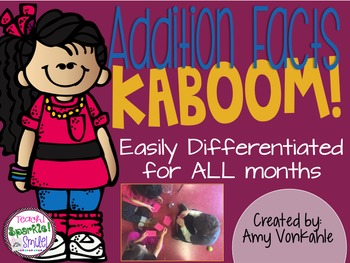 KABOOM!  Addition Fact Fluency Practice through 20