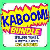 KABOOM! C2C Aligned Spelling Bundle. Year 1, 4 Terms, 8 Units