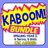 KABOOM! C2C Aligned Spelling Bundle. Year 2, 4 Terms, 8 Units