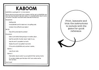 KABOOM! C2C Aligned Spelling. Year 4, Term 2, Units 3 and 4.