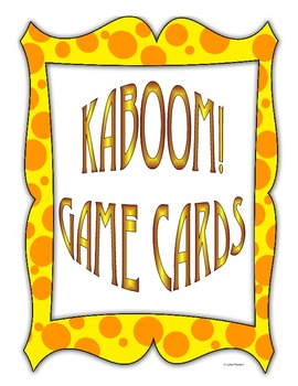 KABOOM GAME CARDS
