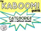 KABOOM Game: Categories FREEBIE