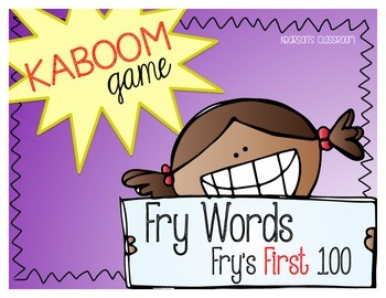 KABOOM Game - Fry Words the First 100 *Differentiated*