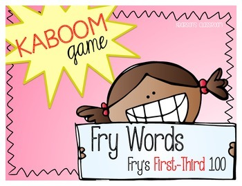 KABOOM Game ~ Fry Words ... Fry's First thru Third 100 *Differentiated*