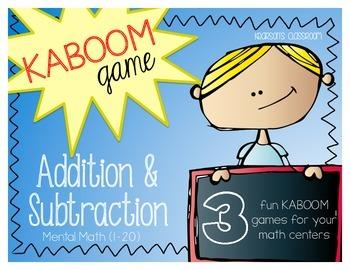 KABOOM Game - Mental Math 1-20