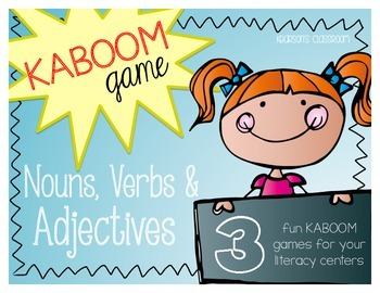 KABOOM Game - Nouns, Verbs, & Adectives