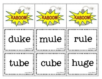 KABOOM! Phonics Game Pack to Practice Silent E Words