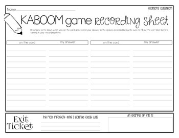 KABOOM Game - Synonyms & Antonyms
