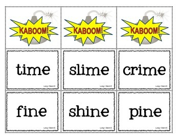 KABOOM! Phonics Game to Practice Long I Silent E Words