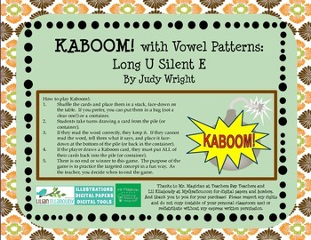KABOOM! Phonics Game to Practice Long U Silent E Words