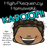 KABOOM! High-Frequency Words - Sight Words - Homework for K-5