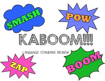 KABOOM!!! Language Standard Review