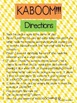 KABOOM:  Long Vowel Patterns
