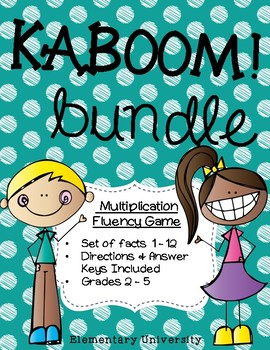 KABOOM! Multiplication *Bundle* Facts x3-x12