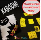 KABOOM! Multiplication Card Game