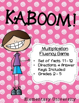 KABOOM! Multiplication Facts 11-12