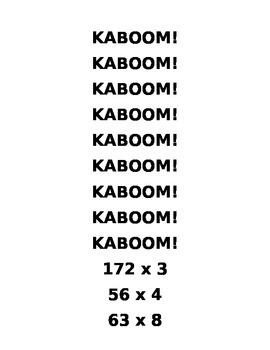 KABOOM! Multiplication Game
