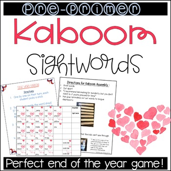 KABOOM Preprimer Sight Words