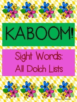 KABOOM: Sight Word Fluency Practice