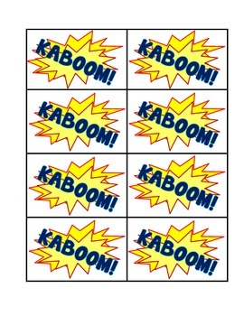 KABOOM! Sight Word Game